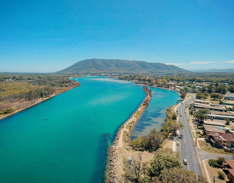 aerial view of haven waters